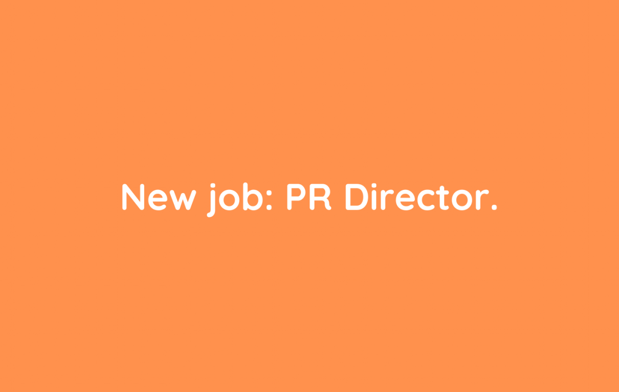 New job PR Director