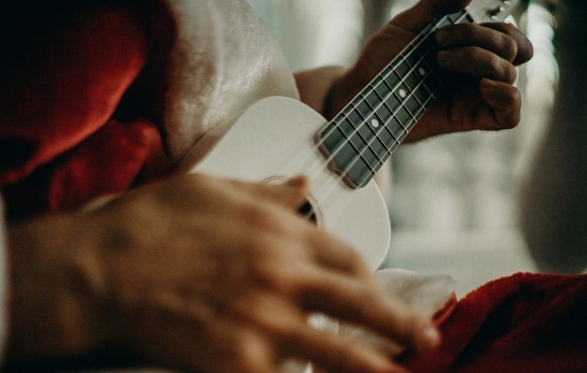Person playing a ukulele 3154257
