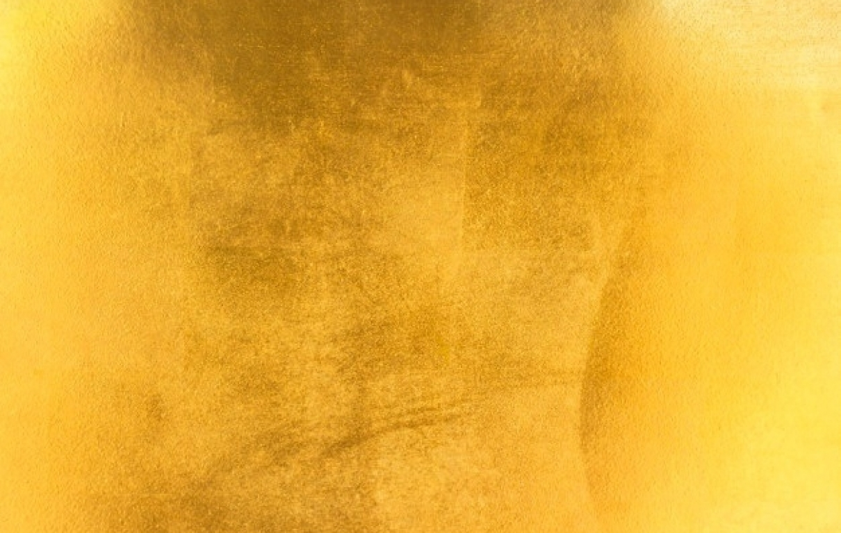 Shiny yellow leaf gold foil texture 38679 522